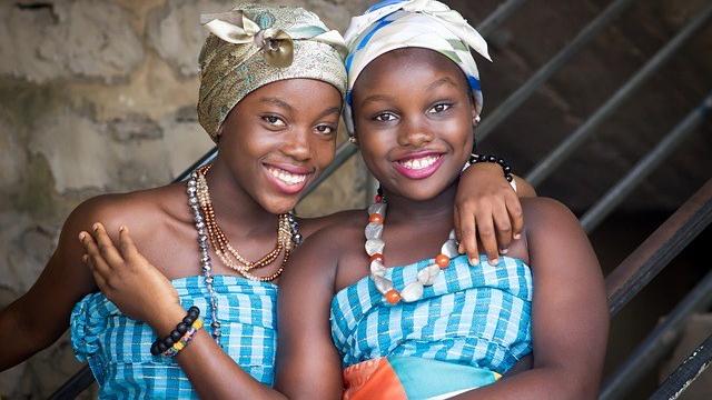 Two young beautiful African women