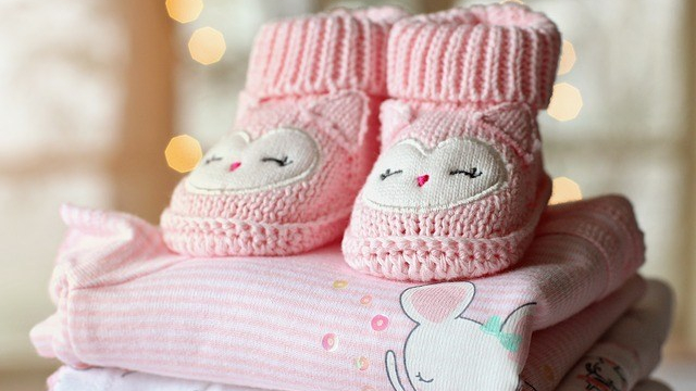 Baby's booties and clothing