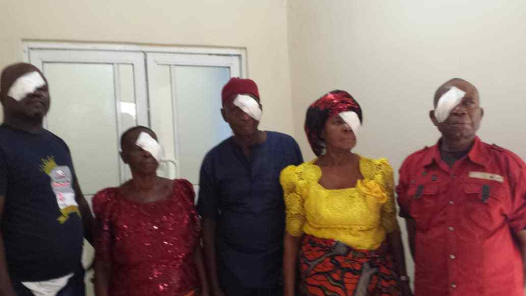 Some beneficiaries of the free eye surgery