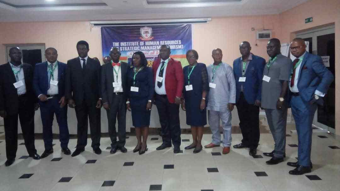 Cross section of Inducted fellows of the Institute of Human Resources and Strategic Management on Saturday