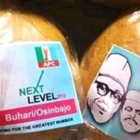 Photo of Buhari and Osibanjo's 'Next Level' bread has surfaced online