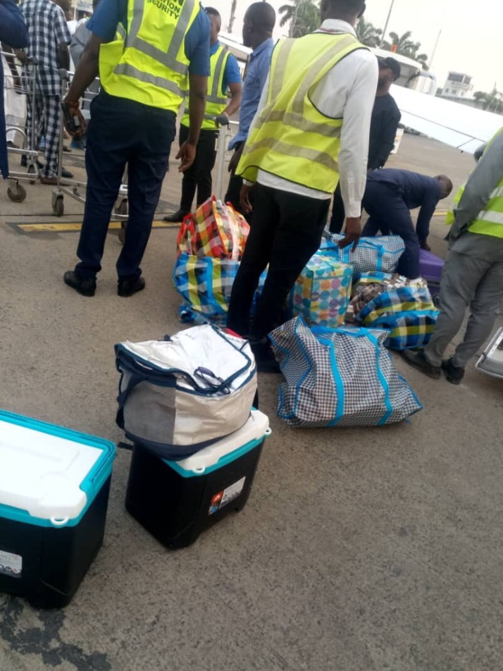 Bags of cash from the private Jet that crashed backward