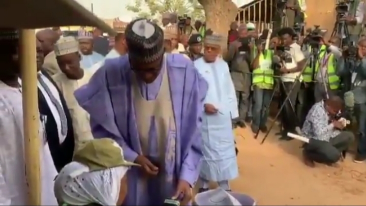 2019 Presidential and National Assemblies Elections: Buhari votes at Daura