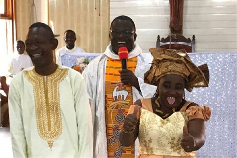 Muslim man weds Christian woman in church