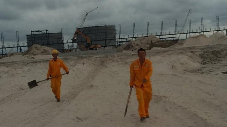 Chinese Construction workers at Dangote Refinery Ibeji Lekki
