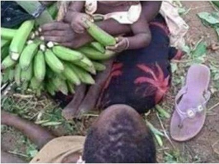 Mother of two caught stealing bunch of bananas