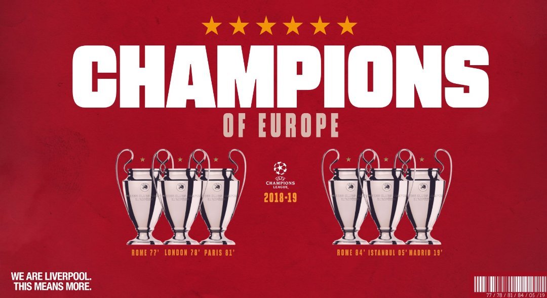 Liverpool Football Club Champions of Europe