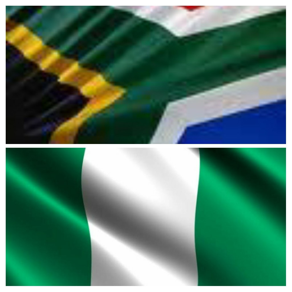 Nigeria and South Africa Flag