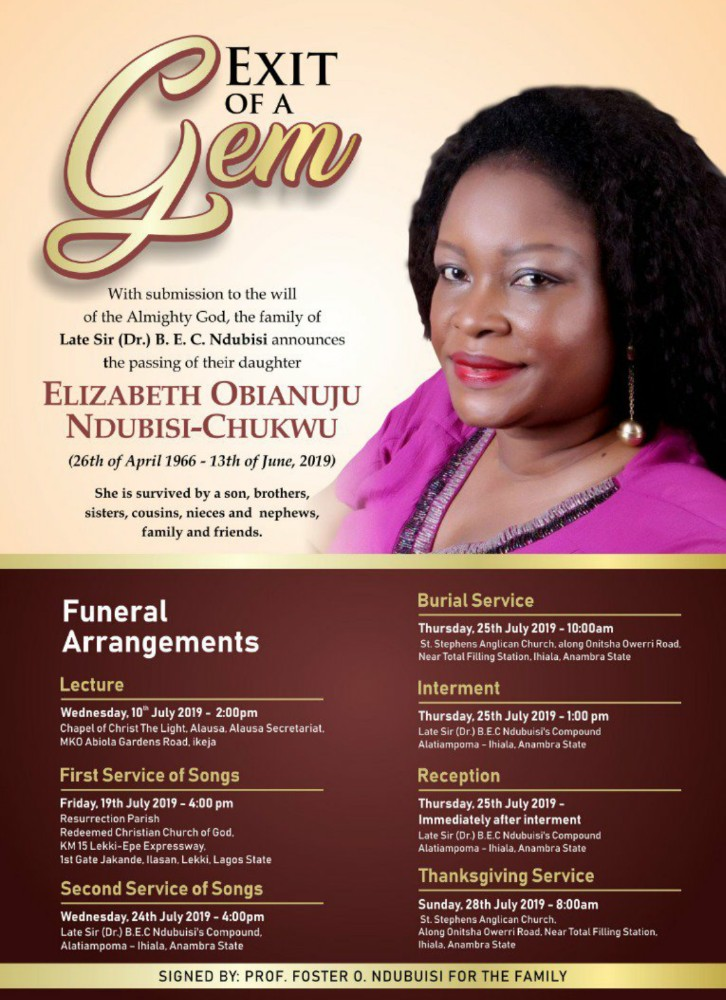 Late Elizabeth Uju Ndubuisi-Chukwu
