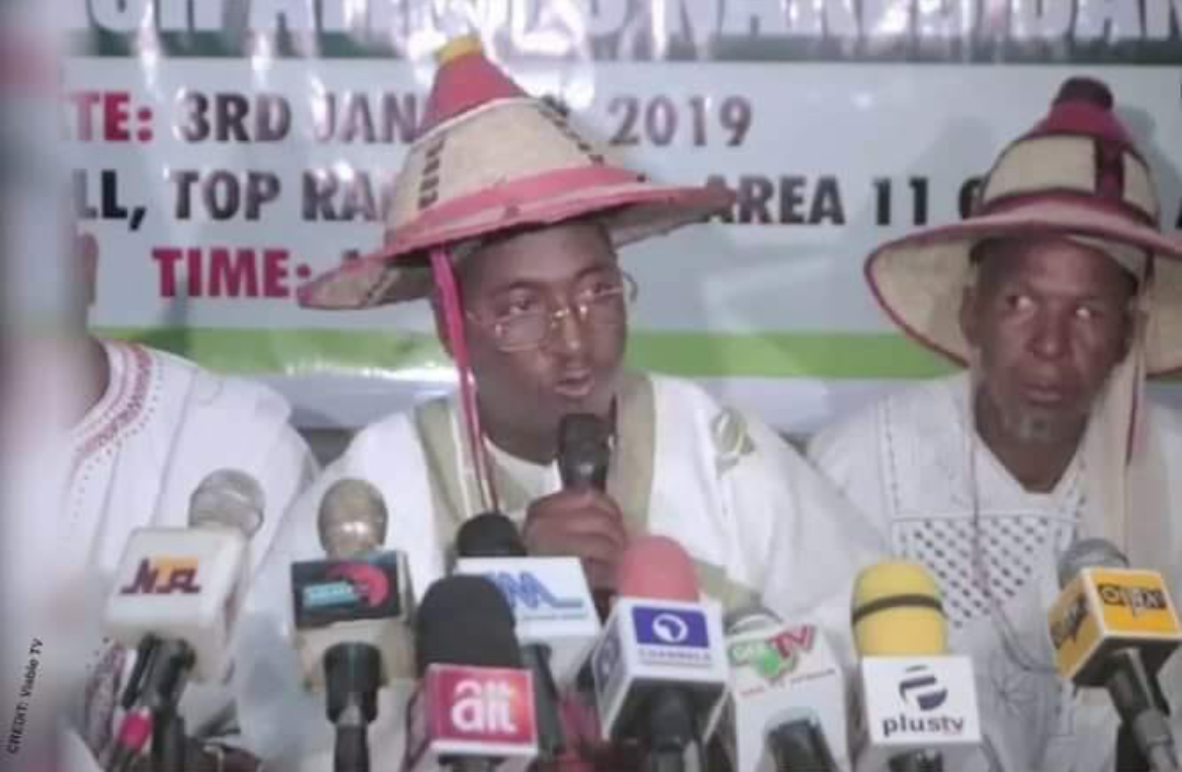 Miyetti Allah leaders in a press conference