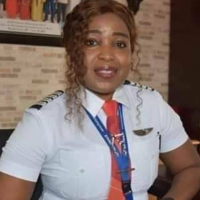 Captain Simisola Ajibola the female pilot who prevented the Air Peace aircraft from crashing due to damaged tyre and wheel