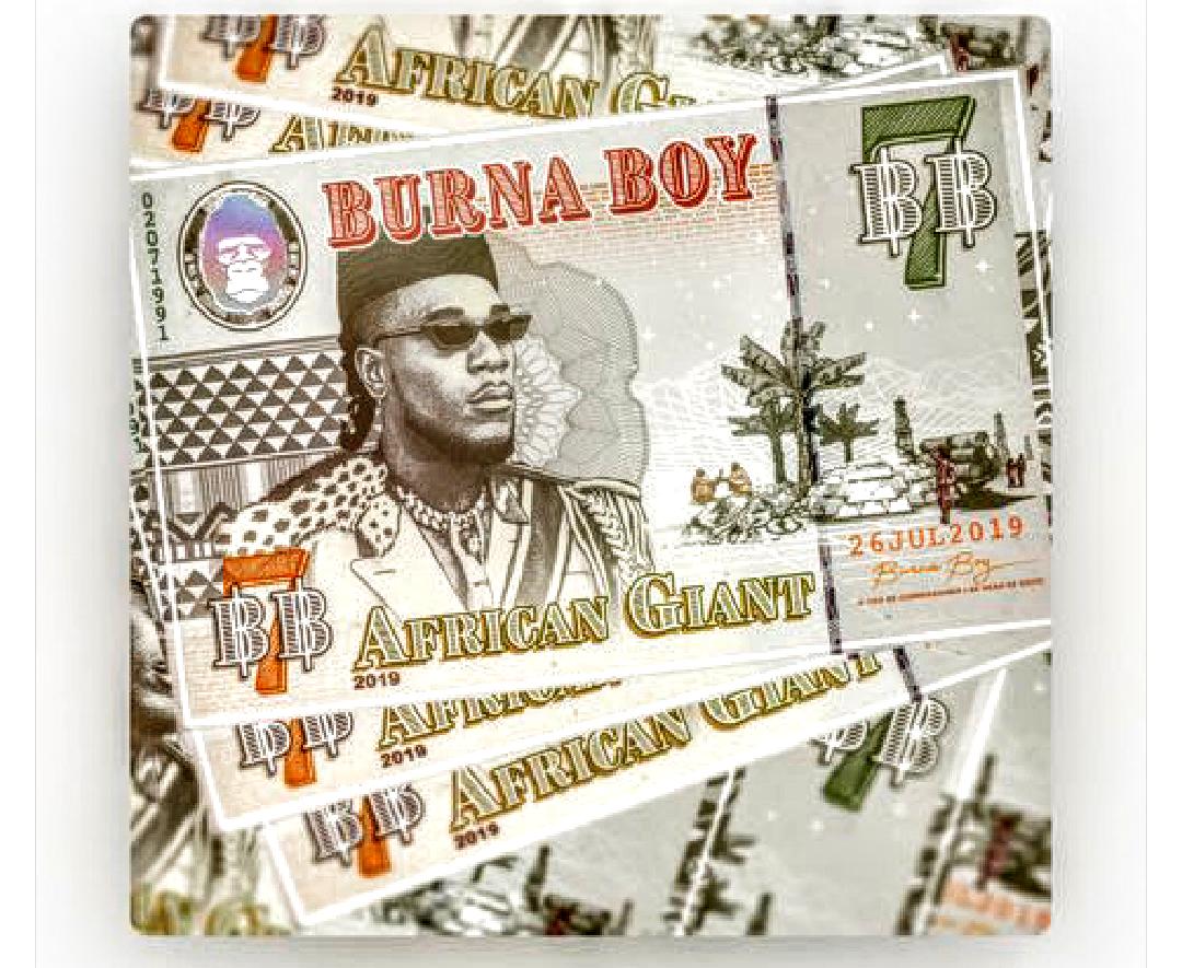 Burna Boy African Giant Albulm art