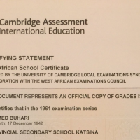 Man punctured Cambridge WAEC certificate of President Buhari presented by Festus Keyamo