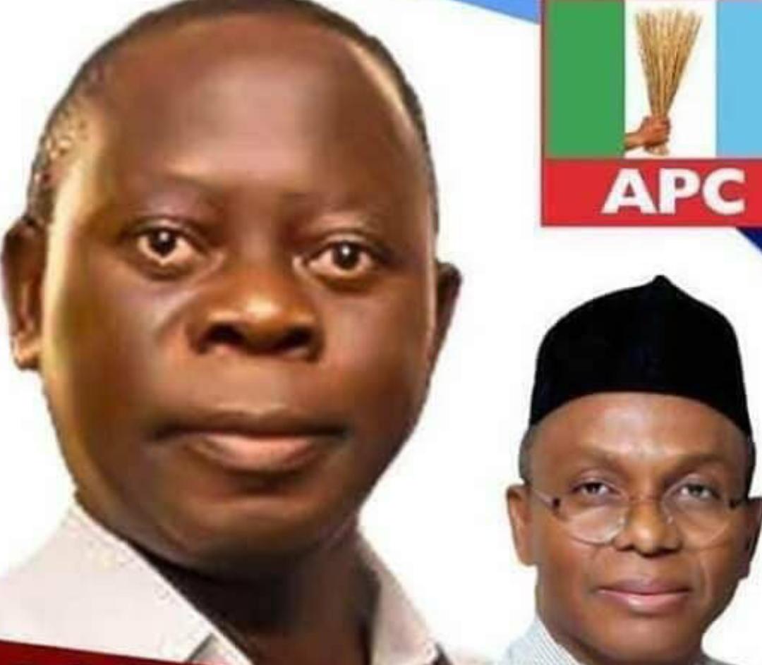 Adams Oshiomole and Nasir El-Rufai campaign poster