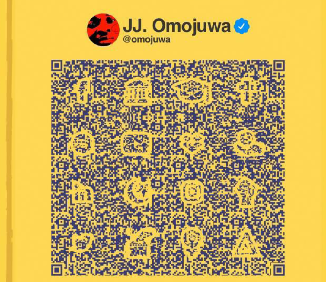 Controversial JJ Omojuwa's book artwork