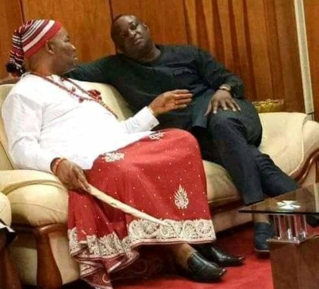 Senator Akpabio and Festus Keyamo having a discussion