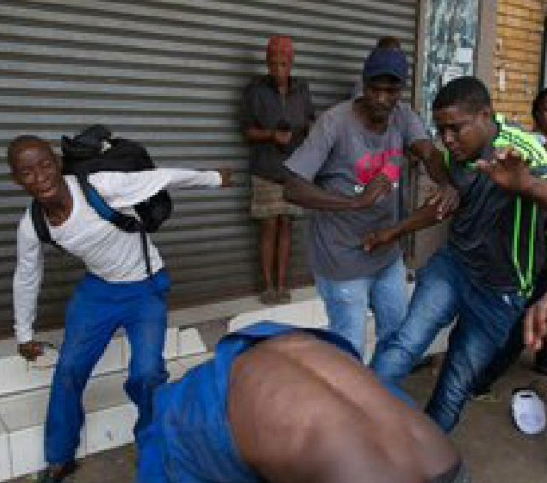 Xenophobic attack on a foreigner in South Africa