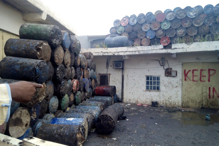 The premises where adulterated palm oil is produced in Gombe state