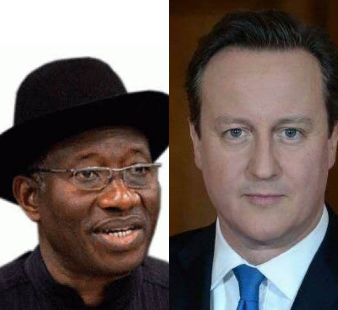 Goodluck Jonathan of Nigeria and David Cameron of Britain